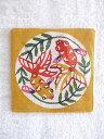 楽天【メール便対応】 紅型 コースター 金魚黄色 【SBZcou1208】沖縄のロハス商品 紅型【RCP】 fs04gm