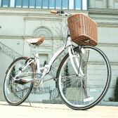 自転車 折りたたみ カゴ 折りたたみ式自転車 26インチ シティサイクル 通学 通勤 折り畳み 折畳み サイクリング シティサイクル6段高級WACHSENBC-626-WBBC-626-IG ヴァクセンバイク 変速機 送料無料 おしゃれ