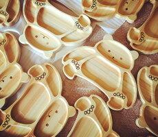 木製プレート/ランチプレート/キッズプレート/日本製/お子様プレート/トレー/お食い初め/出産祝い/プレゼントに/お食い初め/ギフト/国産ひのき/木製食器/インスタ映え【森のうつわ(くま)】