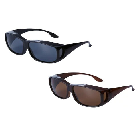 UVカット偏光オーバーサングラス 男女兼用 【2個以上購入で送料無料+お米+ポイント】 UVカットサングラス 99% 調光サングラス 眼鏡の上からかけられる 映り込み・反射光軽減サングラス