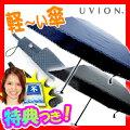 UVION超軽量折傘3段50ミニピンドット柄ユビオン折畳傘折りたたみ傘折り畳み傘軽量3段ミニ折傘