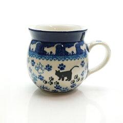 ◆猫 キャット プレゼント ギフト マグカップ ポーリッシュポタリー ポーランド食器ブンツラウ...