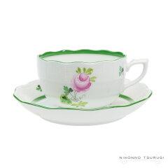 ──ヴィクトリア女王は優雅に暮らしたい。ヘレンド(HEREND)ウィーンのバラ ティーカップ&ソー...
