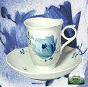 【陶磁器の最高峰】マイセン(Meissen)青い花 コーヒーカップ&ソーサー