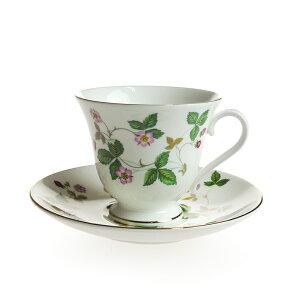 ウェッジウッド (WEDGWOOD) ワイルドストロベリー ティーカップ&ソーサー ヴィクトリアシェイプ