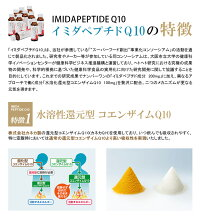 還元型コエンザイムQ10(カネカQH)+イミダペプチド【イミダペプチドQ10】50ml×30本鶏りんご栄養ドリンク日本予防医薬通販