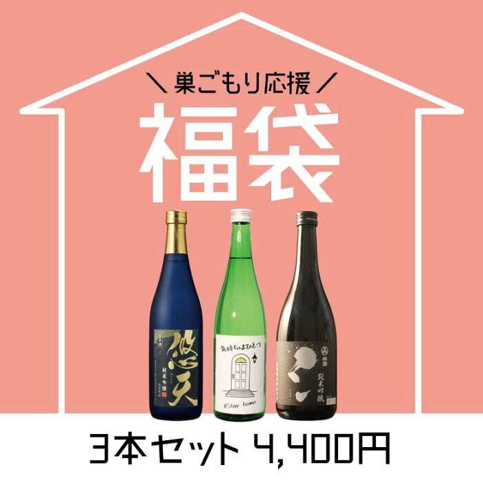 巣ごもり応援福袋 日本酒 720ml×3本 家飲み オンライン飲み会 でおうち時間を楽しく過ごす 復袋【送料無料】