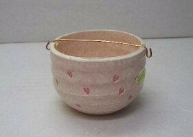 清水焼のぞき香炉ピンク桜