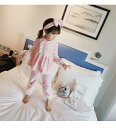 新入荷!秋冬新作 パジャマキッズ 女の子ふわふわパジャマ起毛レース90-140cmフラノ ナイトウェアルームウェア長袖3点セット プリンセスおしゃれ可愛い大人っぽい手触り良い