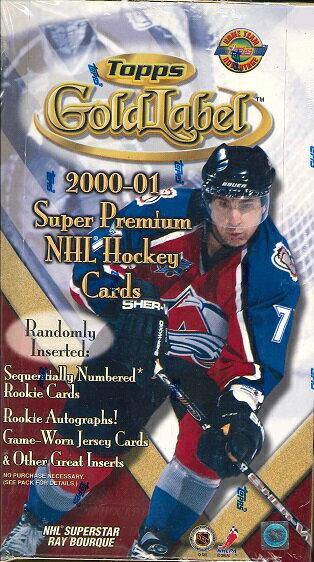トレーディングカード・テレカ, トレーディングカード NHL 20002001 GOLDLABEL BOX