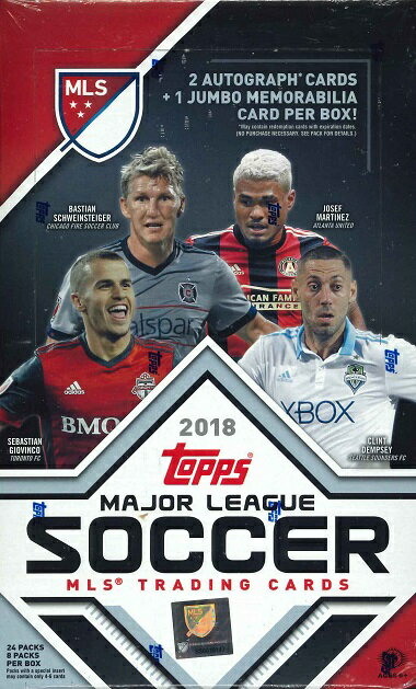 2018 TOPPS MLS(MAJOR LEAGUE SOCCER) BOX画像