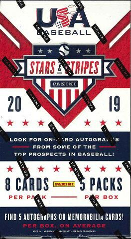 トレーディングカード・テレカ, トレーディングカード MLB 2019 PANINI STARS STRIPES USA BASEBALL BOX