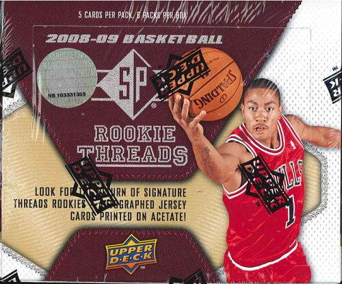 NBA 2008/2009 UD SP ROOKIE THREADS BOX
