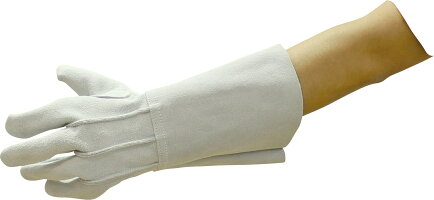NIKKO【日本光器製作所】床皮溶接用手袋 3本指【熔接・溶断・保護・建築・造船・建設・工場・工事・製造・組立】