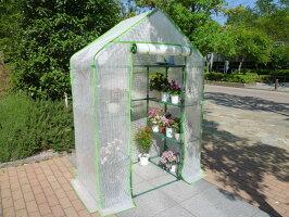 組立式簡易温室セミグリーンジャンボ(サイズ奥行73cm×幅140cm×高さ195cm)【送料無料】