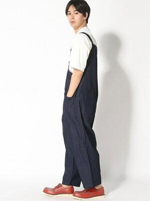 [Rakuten Fashion](M)M/Nデニムオーバーオール2 niko and... ニコアンド パンツ/ジーンズ サロペット/オールインワン ネイビー ホワイト【送料無料】・・・ 画像2