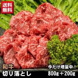 【家計応援 増量キャンペーン!】和牛 切り落とし 800g+200g 計1キロ 送料無料 牛肉 訳あり 不ぞろい