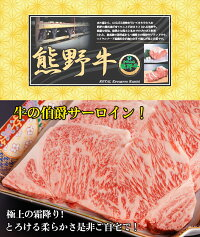 熊野牛 サーロインステーキ A4ランク A5ランク 250g×2枚 500g 【 送料無料 】 サーロイン 肉ギフト 国産 黒毛和牛 贈答 内祝 風呂敷 包装