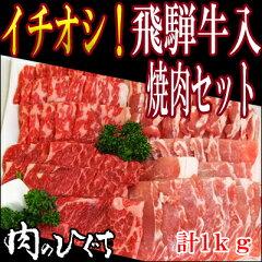 飛騨牛でBBQ♪送料無料 飛騨牛 カルビ もも・かた 国産豚バラ ロース入り BBQ バーベキュー 肉...