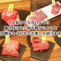 神戸牛焼肉6点セット(2〜4名様)600gロース肩ロース(ザブトン)と店長激選の4部位セット赤身ヤリミスジカイノミフランクイチボランプウチヒラマル