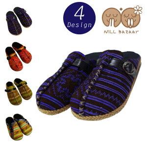 モン族サボ-メイン[サンダルサボカジュアルシューズレディースメンズサンダルヒール靴ファッションアジアンエスニックサンダルサボサンダル