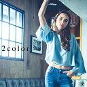 バックリボンデニムブラウス【2017 春】ninamew ニーナミュウ レディース ファッション 流行り 直営 通販 オシャレ 大人可愛い カジュ…