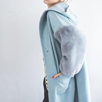 ファースリーブガウン【SALE/セール】ninamew ニーナミュウ レディース ファッション 流行り 直営 通販 オシャレ 大人可愛い カジュアル ニーナ ミュウ 【プレゼント 梱包 無料】【即納可能】【あす楽対応_関西地方迄】