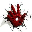 Iron Man 3 3D Deco Light Hand アイアンマン3 3Dデコライト ハンド 手 ひび割れステッカー ウォールライト LED 照明 壁ライト 立体 アメコミ MARVEL マーベル コードレス おしゃれ インテリア 雑貨 アベンジャーズ AVENGERS 05P03Dec16
