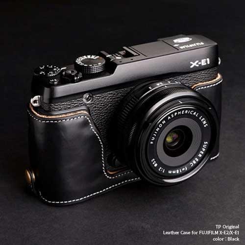 バッグ・ケース, 一眼レフ用カメラケース TP Original Leather Camera Body Case for FUJIFILM X-E2X-E1 X-E2X-E1 EZ Series Oil Black( )