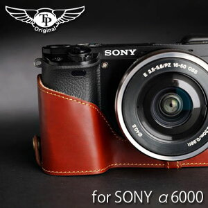 『SONY α6000用レザーカメラケース』TP Original/ティーピー オリジナル Leather Camera Body ...