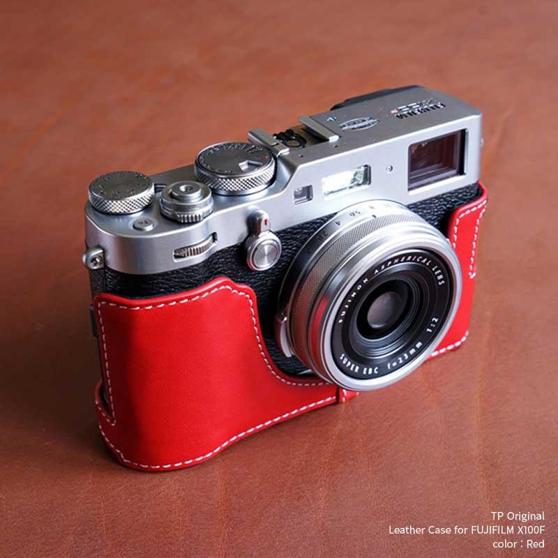 バッグ・ケース, コンパクトカメラ用カメラケース TP Original Leather Camera Body Case for FUJIFILM X100F Red X100F X EZ Series TB08X100F-RD