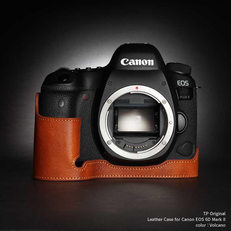 バッグ・ケース, 一眼レフ用カメラケース TP Original Leather Camera Body Case for Canon EOS 6D Mark II Volcano EZ Series TB06E6D2-LB