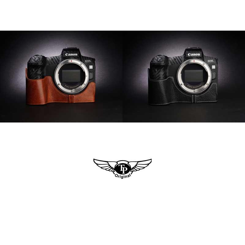 TP Original Leather Camera Body Case for Canon EOS R Black ブラック キャノン キヤノン イオス R 本革 カメラケース レザーケース おしゃれ ミラーレスカメラ デジタルカメラ ケース 速写ケース  EZ Series 底面開閉 バッテリー交換可能 TB06EOSR-BK