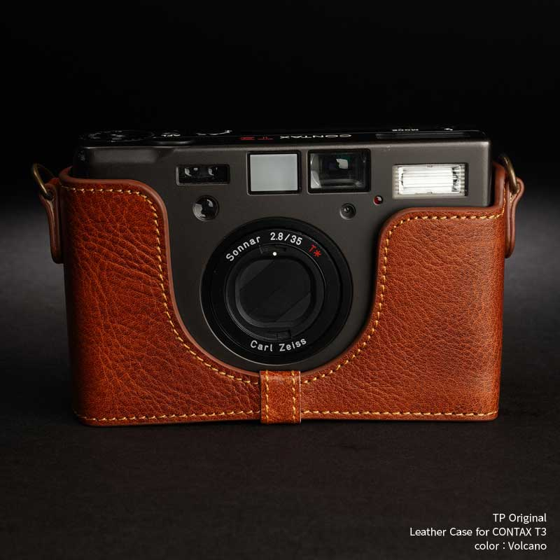 バッグ・ケース, コンパクトカメラ用カメラケース TP Original Leather Camera Body Case for Contax T3 Volcano Classic Series TB05T3-LB