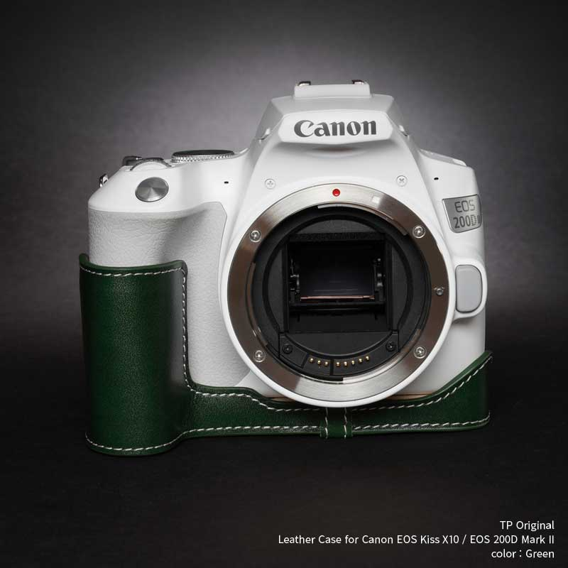 バッグ・ケース, 一眼レフ用カメラケース TP Original Leather Camera Body Case for Canon EOS Kiss X10 EOS 200D MarkII Green EZ Series TB062HD2-GR