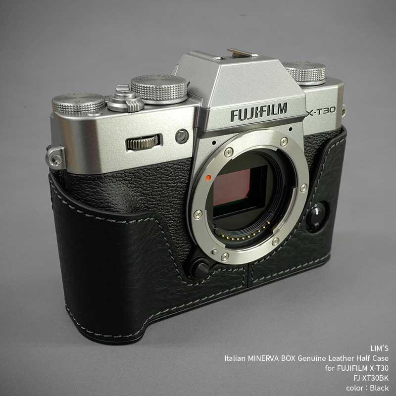 バッグ・ケース, 一眼レフ用カメラケース LIMS Italian MINERVA BOX Genuine Leather Half Case for FUJIFILM X-T30 FJ-XT30BK Black X-T30