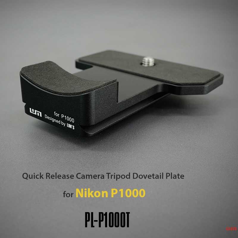 デジタルカメラ用アクセサリー, その他 LIMS Quick Release Camera Tripod Dovetail Plate for Nikon P1000 PL-P1000T P1000 Aluminum 6061