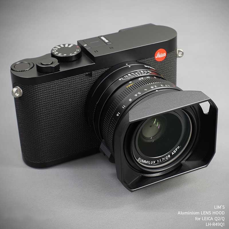 交換レンズ用アクセサリー, レンズフード LIMS Aluminium LENS HOOD for LEICA Q2Q LH-R49Q1 Black Q2Q Aluminum 6061 6061