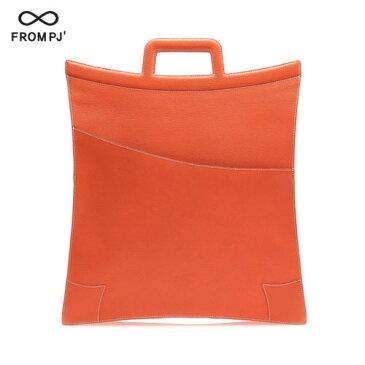 『送料無料!』FROM PJ おしゃれ イタリアンレザー トートバッグ Star Bag ST-301 Orange(オレンジ) 高品質 高級感溢れる ファッションバッグ メンズ レディース 男女兼用 かっこいい ビジネスマン ハンドメイド バッグ かばん 鞄 本革 ハンドバッグ