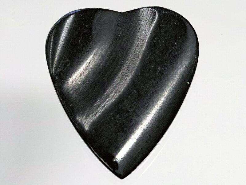 アクセサリー・パーツ, ピック  3.5mm Animals Pedal Wild Picks (CHR-HP-DD-BK) Cow Horn Heart Pick Double Dent Black