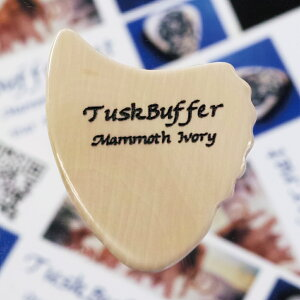 【新商品】【正規輸入品】TuskBuffer Guitar Picks Mammoth Ivory Guitar Pick Sharkfin 1.2mm...