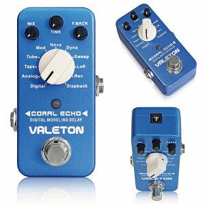 VALETON CORAL ECHO 極小ボディに11種のディレイ