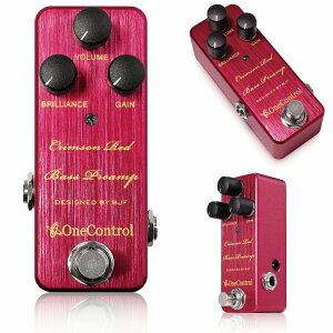 One Control Crimson Red Bass Preamp エレキベースをウッドベースに変えるBJFの魔法のプリアンプ