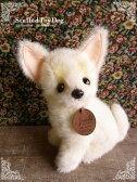 【チワワ クリーム ver.】日本製リアルな犬のぬいぐるみ◎簡易ラッピング(無料)でお届けします。