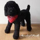 ぬいぐるみ犬リアルスタンダードプードル【特大!スタンダードプードルのぬいぐるみ(ブラック/黒)】ご予約受付中!(発送は11月上〜中旬の予定です。)