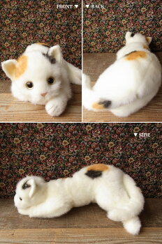 猫ぬいぐるみリアル三毛猫