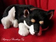 【本物そっくりに眠る黒柴犬のぬいぐるみ】パーフェクトペット|犬のぬいぐるみ|動くぬいぐるみクリスマス|誕生日|プレゼント|ギフト|お見舞い