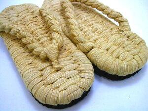 忍者や和柄衣装にピッタリ!底付き布草履(ぬのぞうり)・M(22〜24cm)