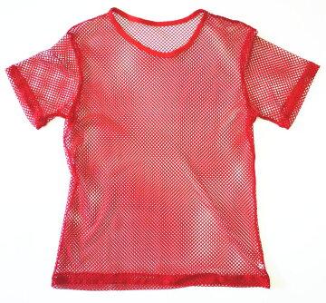 半袖メッシュTシャツ(赤)