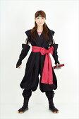 くノ一(くの一・女忍者)装束(黒・赤)kunoichi wear(woman ninja)